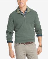 Izod Men's Dual-Texture Quarter-Zip Sweater