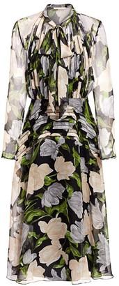 Jason Wu Collection Pleated Silk Chiffon Midi Dress