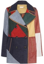 Tory Burch Cheval Wool-blend Peacoat