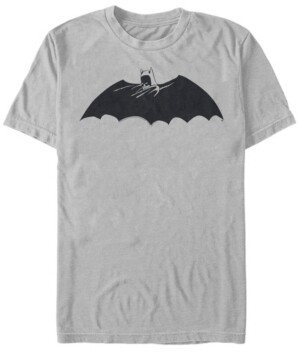 Fifth Sun Dc Men's Batman Cape Logo Short Sleeve T-Shirt