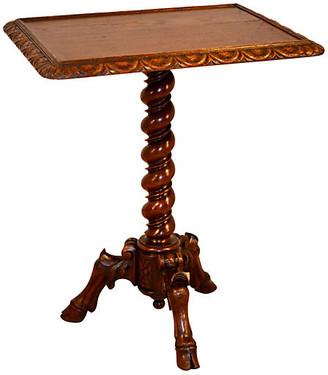 One Kings Lane Vintage 19th-C. French Pedestal Side Table - Black Sheep Antiques