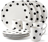 Kate Spade All in Good Taste Deco Dot Stoneware 12-PIece Dinnerware Set