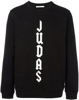 Givenchy Cuban-fit Judas slogan sweatshirt