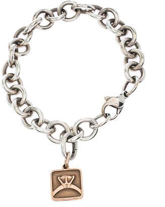 Tiffany & Co. Rubedo Charm Silver Chain Link Bracelet
