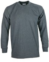 Club Pro Men's proclub Heavy Weight solid crewneck long sleeve shirts L