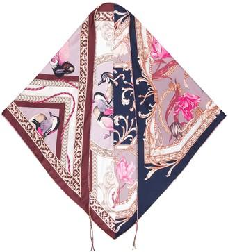 Salvatore Ferragamo Elizabeth-print silk scarf