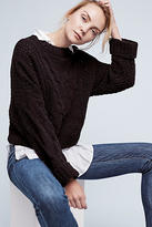 Anthropologie Cropped & Cabled Sweater