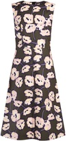 Marni Whisper-print cotton-poplin midi dress