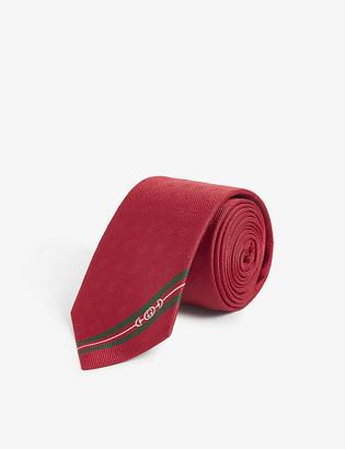 Gucci Bees jacquard silk tie