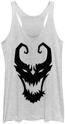 Fifth Sun Marvel Women Venom Symbol Logo Comic Tri-Blend Tank Top