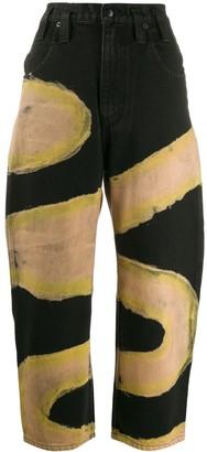Eckhaus Latta Chemtrail pattern tapered jeans