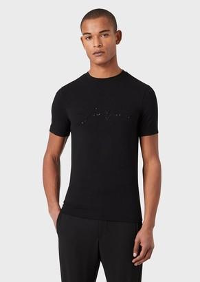 Giorgio Armani GiorgioS T-Shirt With Sequin Embroidery