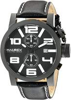 Haurex Italy Men's 3N506UWN TURBINA II Analog Display Quartz Black Watch