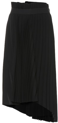 Balenciaga Asymmetric pleated midi skirt