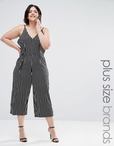 AX Paris Plus Jumpsuit In Stripe