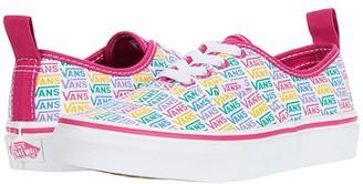 Vans Kids Authentic Elastic Lace (Little Kid) ((Rainbow Vans) Cabaret/True White) Girls Shoes