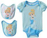 Disney Disney's Cinderella Baby Girl Bodysuit & Bib Set