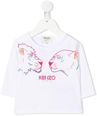 Kenzo Kids tiger head print T-shirt