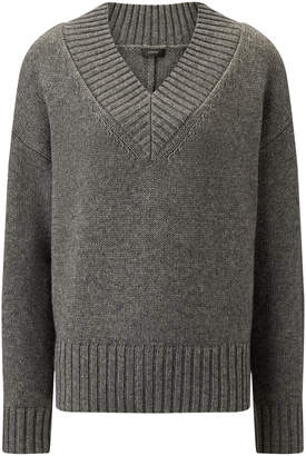 Joseph V Neck Wool Cashmere Knit