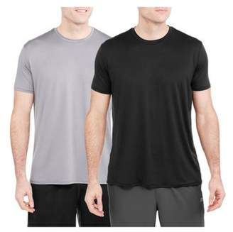 Athletic Works Mens Assorted Tagless Crew T-Shirts, 2-pack