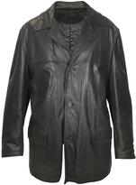 Forzieri Men's Black Leather Jacket