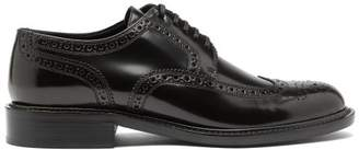 Saint Laurent Army Perforated Leather Brogues - Womens - Black
