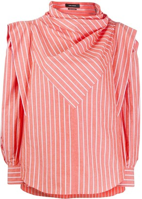 Isabel Marant Welly striped structured blouse