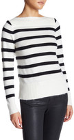 Fate Long Sleeve Boatneck Striped Sweater