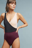 Solid & Striped Ballerina Bordeaux One-Piece
