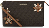 MICHAEL Michael Kors Daniela large leather clutch