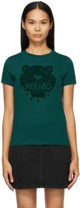 Kenzo Blue Tiger Flock T-Shirt