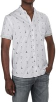 Free Nature Anchor Poplin Shirt - Short Sleeve (For Men)