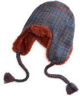Muk Luks Women's Lurex Braided Trapper Hat