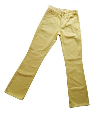 Levi's Yellow Cotton - elasthane Jeans