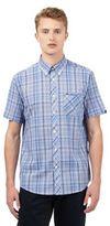 Ben Sherman Blue Checked Print Shirt