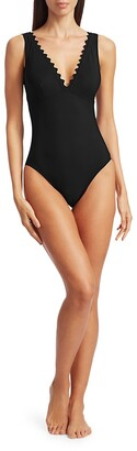 Karla Colletto Swim Ines Plunging One-Piece Swimsuit