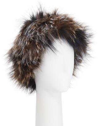 Gorski Fox Fur Knit Headband
