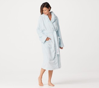 Peace Love World Faux Fur Cozy Robe with Affirmation