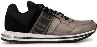 Dirk Bikkembergs mixed material metallic sneakers