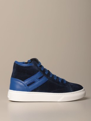 Hogan H340 Suede And Leather Sneakers