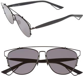 Christian Dior Technologic 57mm Brow Bar Sunglasses
