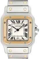 Cartier Vintage Santos Galbee 18K Yellow Gold & Stainless Steel Watch