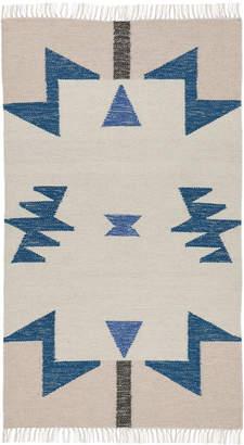 ferm LIVING Kelim Blue Triangles Rug - Small