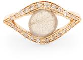 Jacquie Aiche Diamond, labradorite & yellow-gold ring