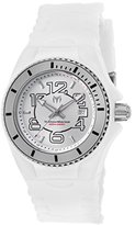 Technomarine Women's 'Cruise Jellyfish' Swiss Quartz Stainless Steel and Silicone Casual Watch, Color:White (Model: TM-115124)