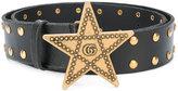 Gucci star buckle belt