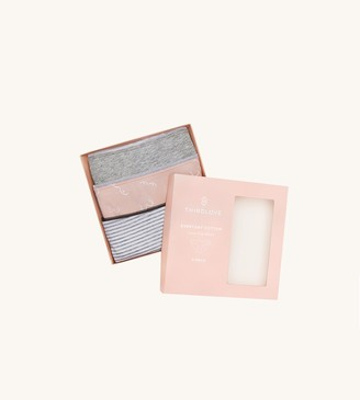 ThirdLove Everyday Cotton Lace Trim Bikini 3 Pack