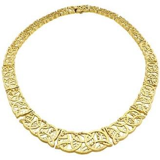Katy Briscoe Vanderbilt 18K Yellow Gold Cutout Collar Necklace