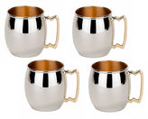 Old Dutch 16 Oz Solid Copper Inside Out Moscow Mule Mugs Set of 4