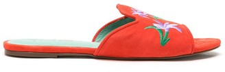 Blue Bird Shoes Embroidered Slide Sandals